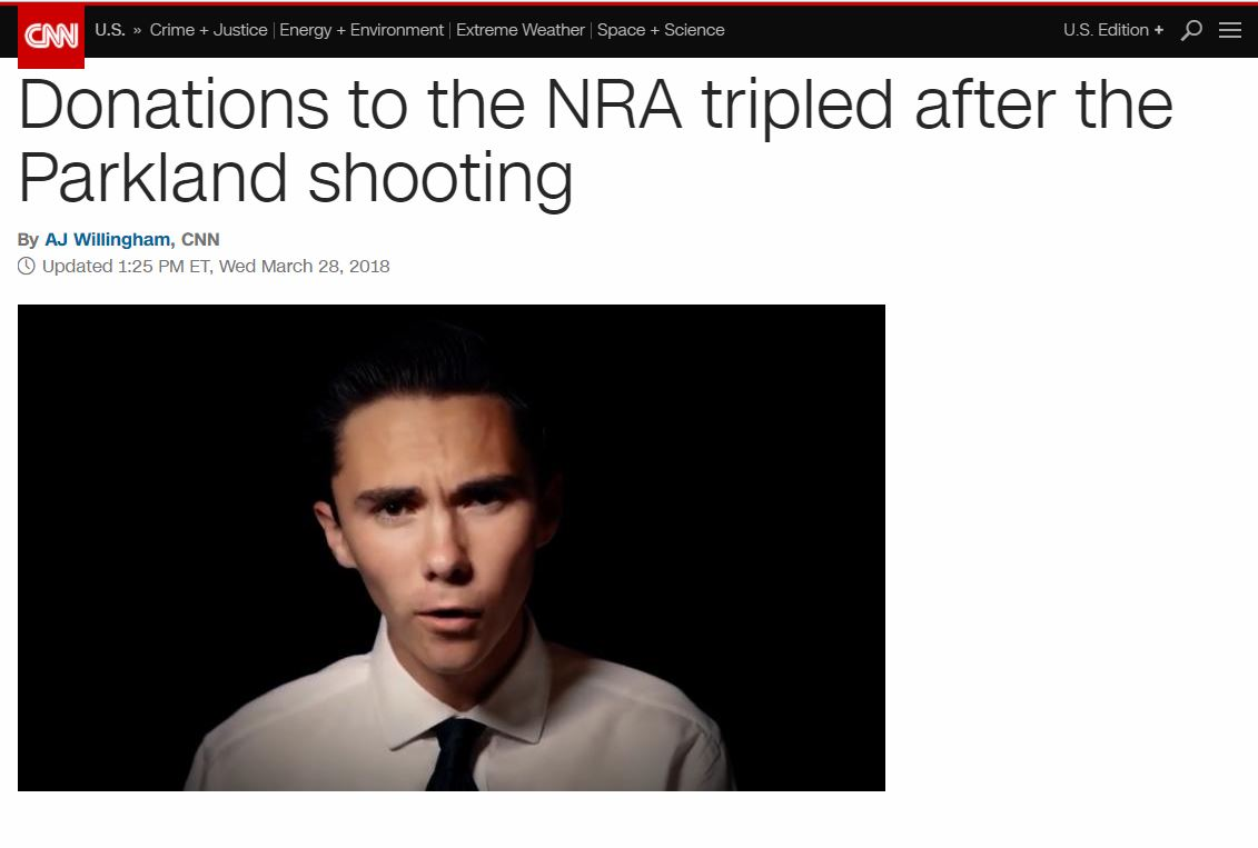 Jew Detector: Donations To The NRA Triple After Parkland Shooting